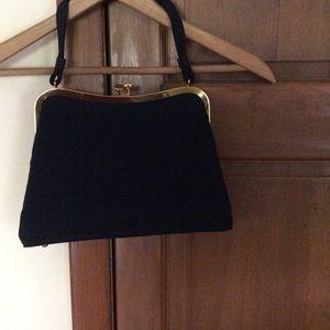 Vintage evening bag black